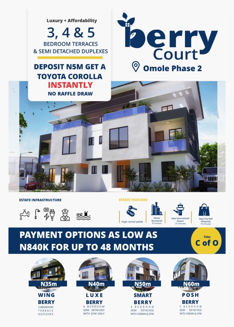 Luxury Apartments and Duplexes at Berry Court Omole Phase 2