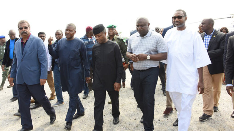 Nigeria's Refining Capacity; Osinbajo Inspect Dangote Refinery